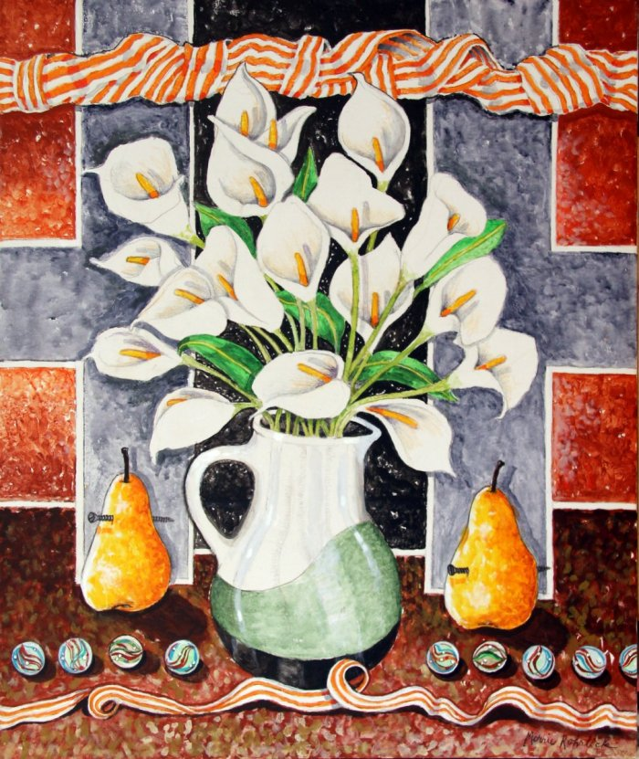 """Untitled (vase with calla lilies)"""