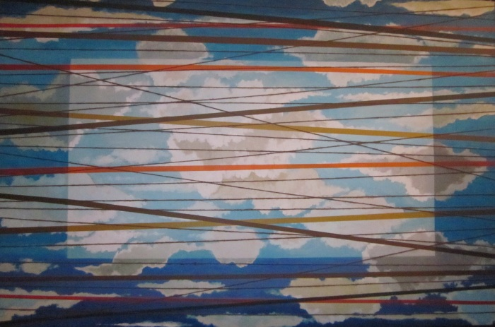 """Untitled (clouds & lines, cord wrap)"""