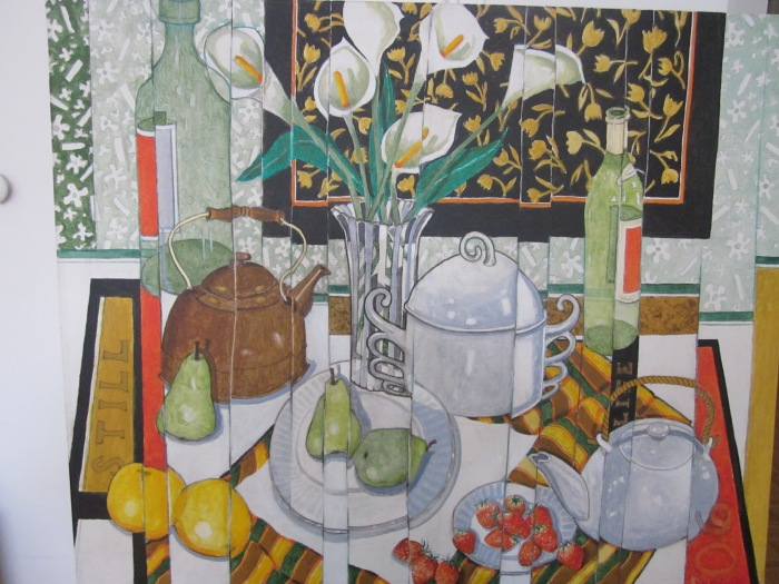 210 untitled (Calla Lilies, Pears, Refractions), 36- x 30-, acrylics on canvas (2).JPG