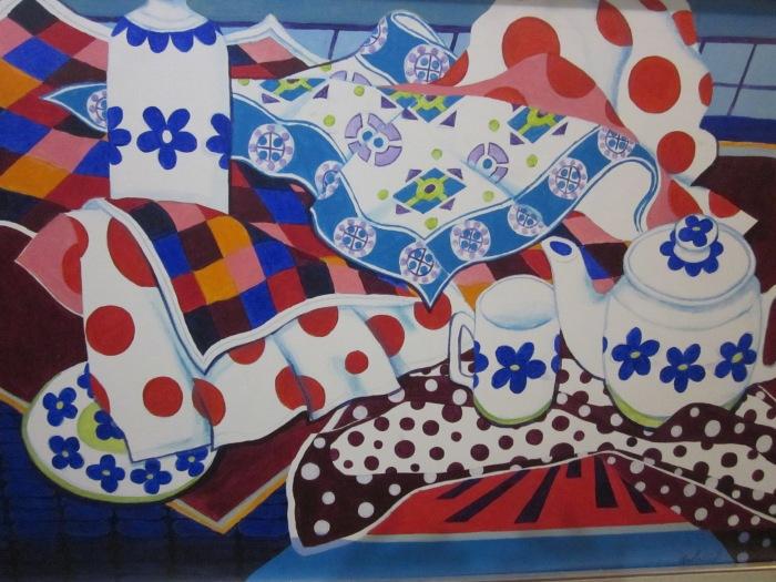 298 -Studio, Tea Time-, 43- x 31-, acrylics on canvas.JPG