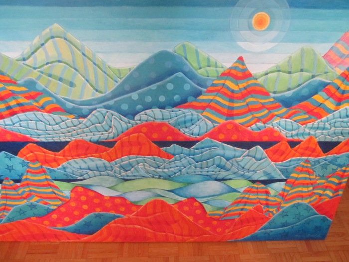 176 -Fabricscape #11-, 54- x 36-, acrylics on canvas (2)