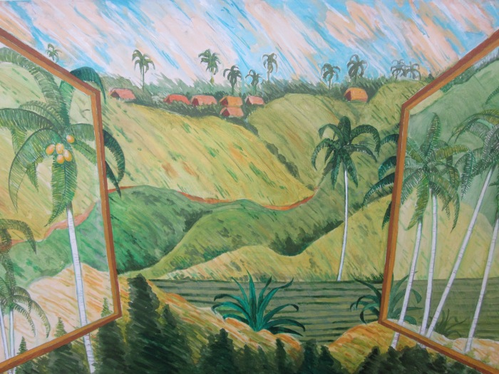 204 -Bali's Landscape, Ubud-, 30- x 24-, acrylics and colored pencils on canvas (1)