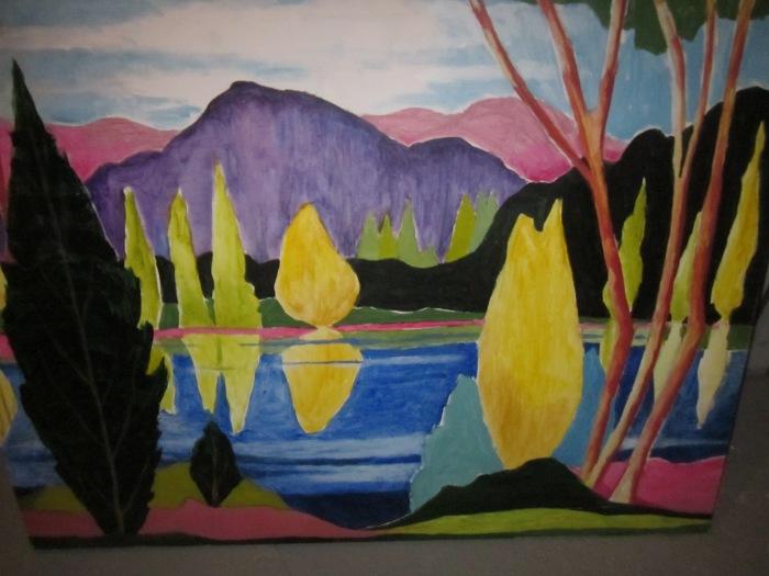 166 -Laurentian Lake-, 24- x 36-, acrylics on canvas (3)