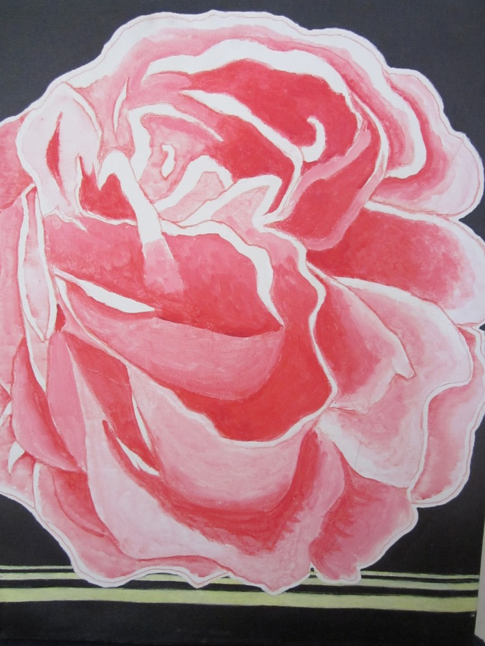 215 untitled (Pink Rose), 16- x 20-, acrylics on canvas (1)