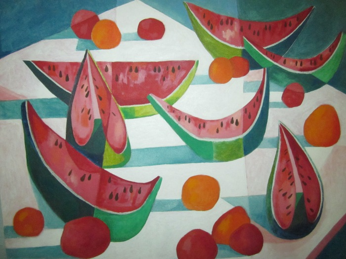 270 -Watermelons Etcetera-, 30- x 24-, acrylics on canvas (1)