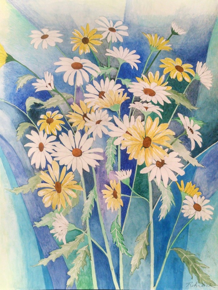 505 -A Bunch of Daisies-, 20- x 24-, colored pencils on paper